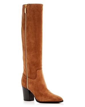 Sergio Rossi Women's Suede Block-Heel Boots