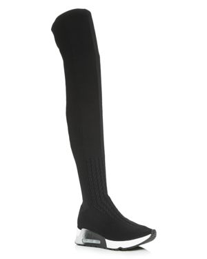 Ash Women's Lola Knit Over-the-Knee Wedge Boots
