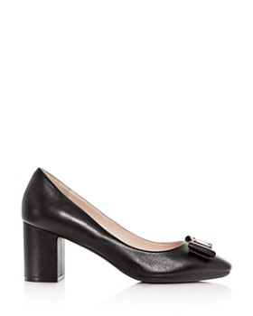 Cole Haan - Women's Tali Leather Block-Heel Pumps
