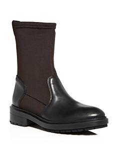 Aquatalia - Women's Leoda Weatherproof Leather & Neoprene Low-Heel Boots