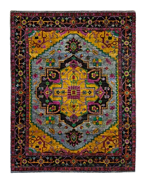 Solo Rugs Sari Silk 7 Hand-Knotted Area Rug, 7' 10 x 9' 10