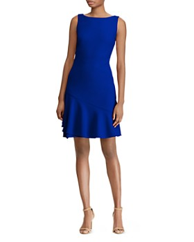 Ralph Lauren Flounced Jersey Dress
