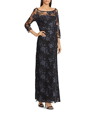 Lauren Ralph Lauren Floral Embroidered Gown