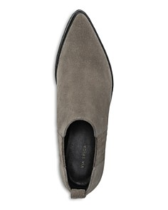 Via Spiga - Women's Farly Pointed Toe Mid-Heel Ankle Booties
