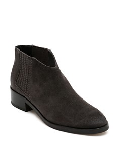 Dolce Vita - Women's Towne Almond Toe Suede Low-Heel Booties
