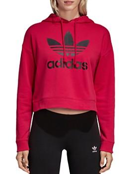 adidas Originals - Trefoil Cropped Hooded Sweatshirt