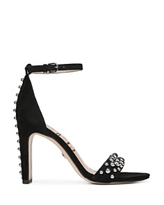 Sam Edelman - Women's Yoshi Open Toe Studded Suede High-Heel Sandals