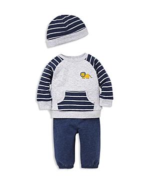 Little Me Boys Lion Sweatshirt Jogger Pants  Hat Set  Baby
