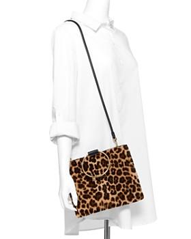 Thacker - Le Pouch Medium Leopard-Print Shearling & Leather Crossbody