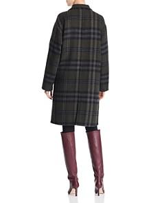 Bernardo - Double-Breasted Plaid Coat