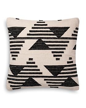 "Loloi - Magnolia Home Black & White Embroidered Decorative Pillow, 22"" x 22"""