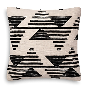 Loloi Magnolia Home Black & White Embroidered Decorative Pillow, 22 x 22