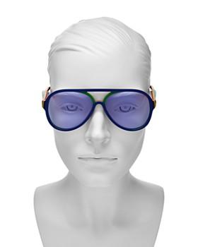 Gucci - Women's Rainbow Aviator Sunglasses, 57mm