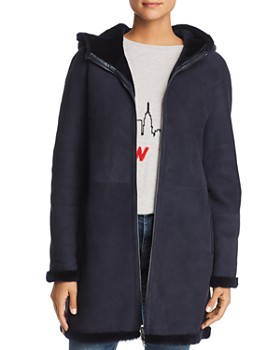 Maximilian Furs - Hooded Suede & Lamb Shearling Coat - 100% Exclusive