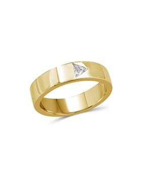 Love and Pride - 14K Yellow Gold Trillion Diamond Ring