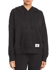 Calvin Klein - Monogram Lounge Long-Sleeve Hooded Sweatshirt