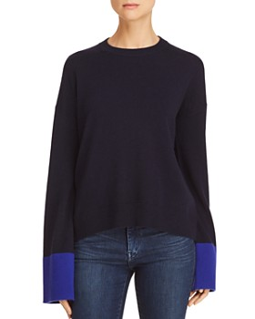 Theory - Color-Block Wool & Cashmere Sweater - 100% Exclusive