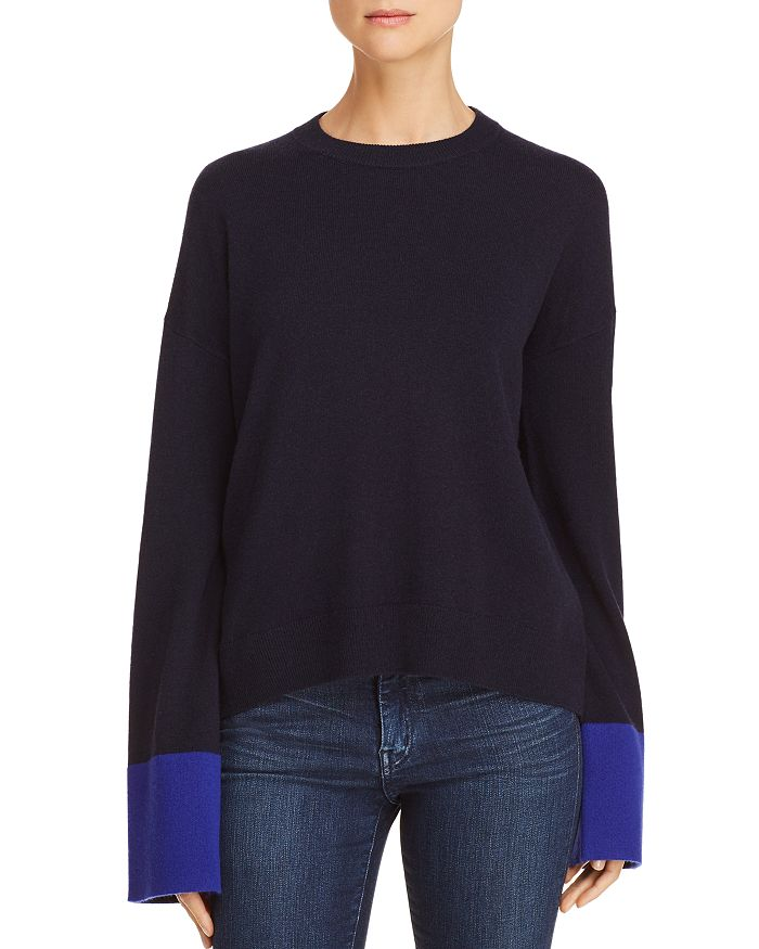 9d5d5251f0d Theory Color-Block Wool   Cashmere Sweater - 100% Exclusive ...