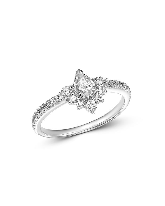 Bloomingdale's - Diamond Teardrop Ring in 14K White Gold, 0.50 ct. t.w. - 100% Exclusive