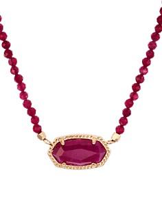 "Kendra Scott - Elisa Faceted Stone Pendant Necklace, 16"""