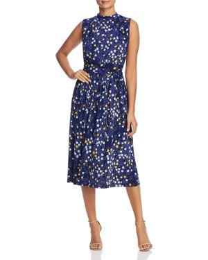 LEOTA Mindy Shirred Midi Dress in Woodberry
