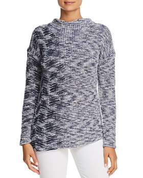 NIC and ZOE - Marled Drop Shoulder Sweater