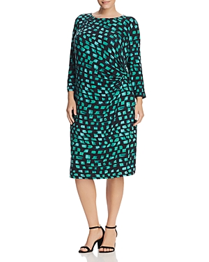 Nic+Zoe Plus Vivid Twist Waist Dress