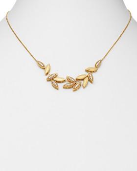 "Roberto Coin - 18K Yellow Gold Diamond Petals Diamond Cluster Necklace, 16"" - 100% Exclusive"