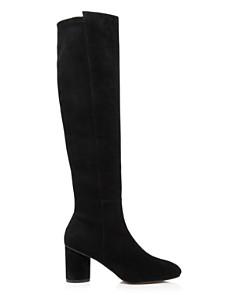 Stuart Weitzman - Women's Eloise 75 Almond Toe Suede Boots