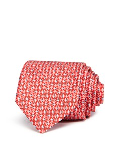 Salvatore Ferragamo - Enne Mini Linked-Gancini Silk Classic Tie