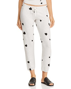 Monrow - Heart-Print Sweatpants