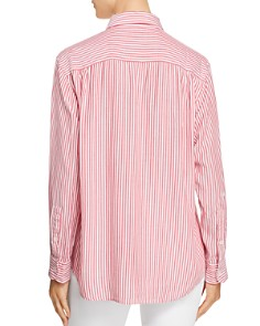 7 For All Mankind - Striped High/Low Shirt