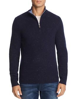 The Men's Store at Bloomingdale's - Half-Zip Tweed Cashmere Sweater - 100% Exclusive