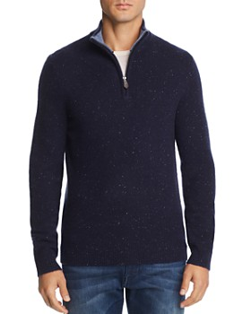 The Men's Store at Bloomingdale's - Donegal Cashmere Quarter-Zip Sweater - 100% Exclusive