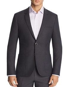 HUGO - Arti Micro-Hopsack Solid Slim Fit Wool Sport Coat