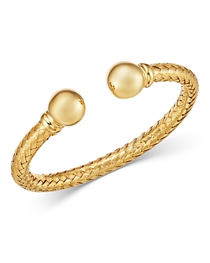 Bloomingdale's Braided Cuff Bracelet in 14K Yellow Gold - 100% Exclusive