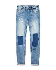 BLANKNYC - Girls' Patchwork Boyfriend Jeans - Big Kid