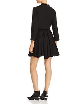 AQUA - Metallic-Trim Shirt Dress - 100% Exclusive