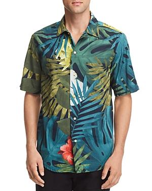 G-star Raw Bristum Botanical-Print Regular Fit Utility Shirt