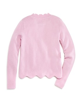 AQUA - Girls' Scalloped Cashmere Sweater, Big Kid - 100% Exclusive