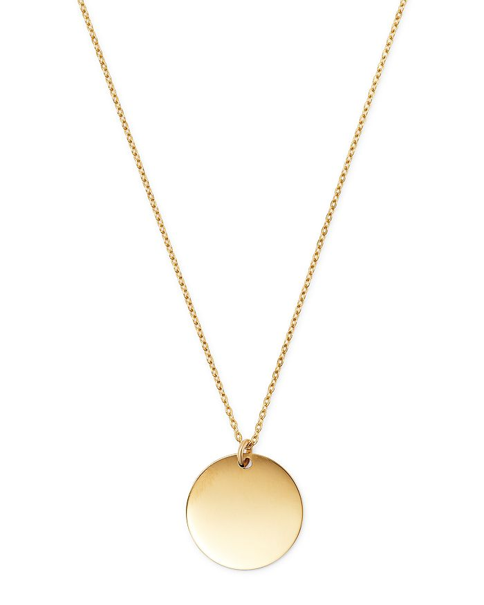 """Moon & Meadow - 14K Yellow Gold Disc Pendant Necklace, 17"""" - 100% Exclusive"""