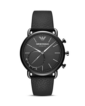 Emporio Armani - Hybrid Smartwatch Black Leather