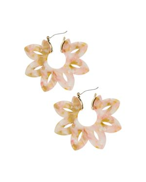Rita Resin Drop Earrings, Orange