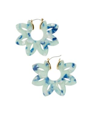Rita Resin Drop Earrings, Blue