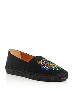 Kenzo - Women's Classic Tiger-Embroidered Espadrille Flats