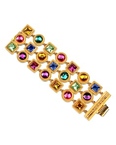 Ben Amun - 3 Row Multi Crystal Bracelet