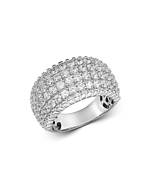 Bloomingdale's Diamond Four Row Statement Band in 14K White Gold, 3.0 ct. t.w. - 100% Exclusive