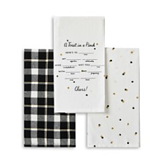 kate spade new york - A Toast in a Pinch 3-Piece Towel Set