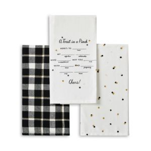 kate spade new york A Toast in a Pinch 3-Piece Towel Set