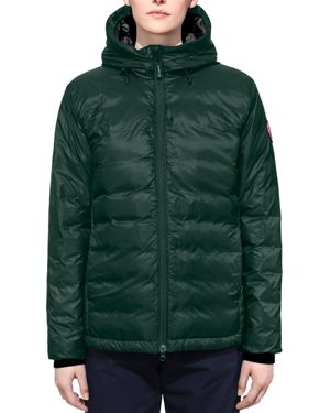Camp Hooded Quilted Shell Down Jacket in Dark Green